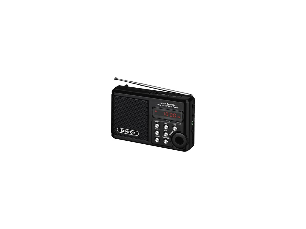 Rádio Sencor SRD 215 B s USB/MP3 a SD kartou