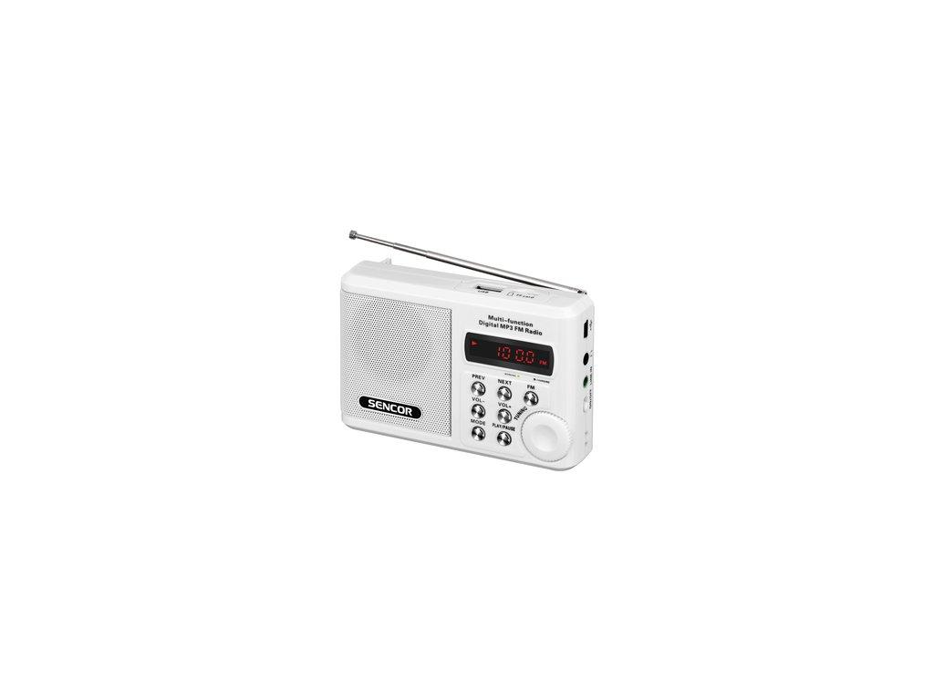 Rádio Sencor SRD 215 W s USB a SD kartou