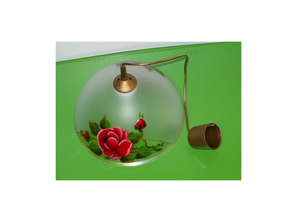 Lustr kuchyň sklo motiv růže