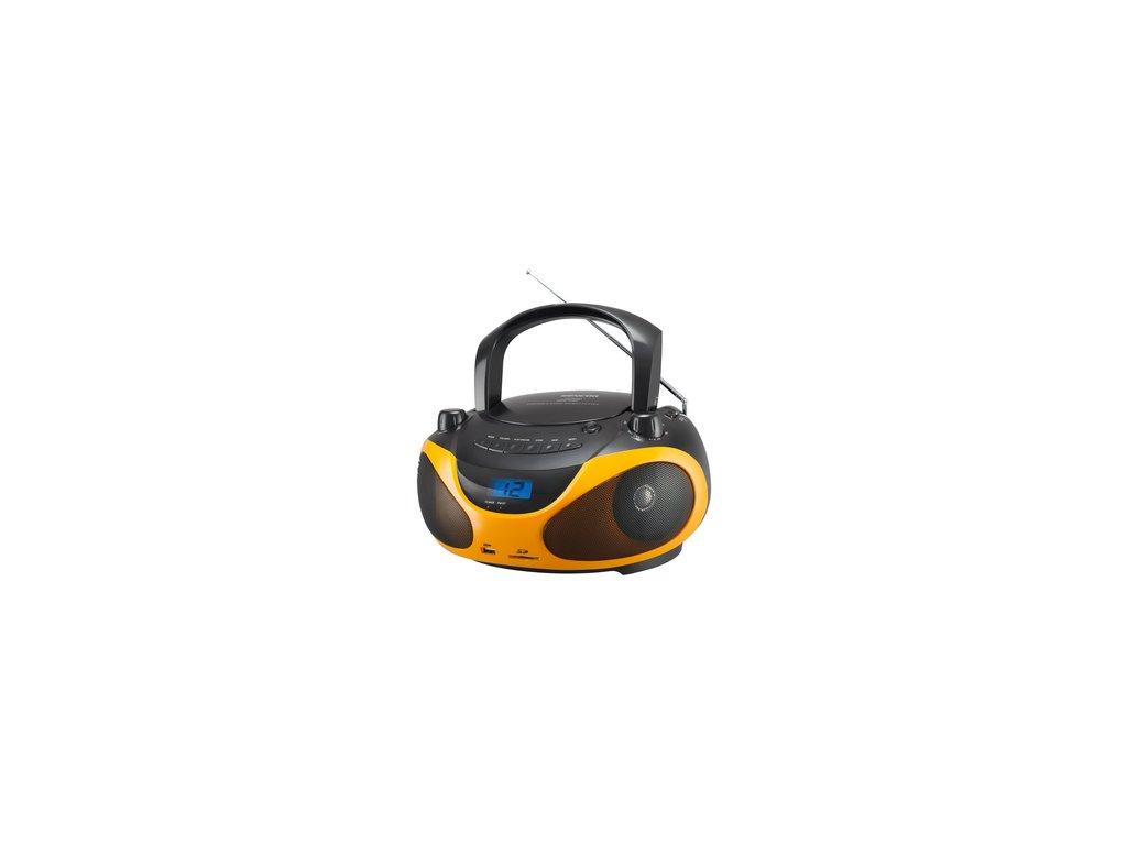 Rádio s CD Sencor SPT 228 BO MP3 oranžový USB SD karta  DOPRAVA ZDARMA