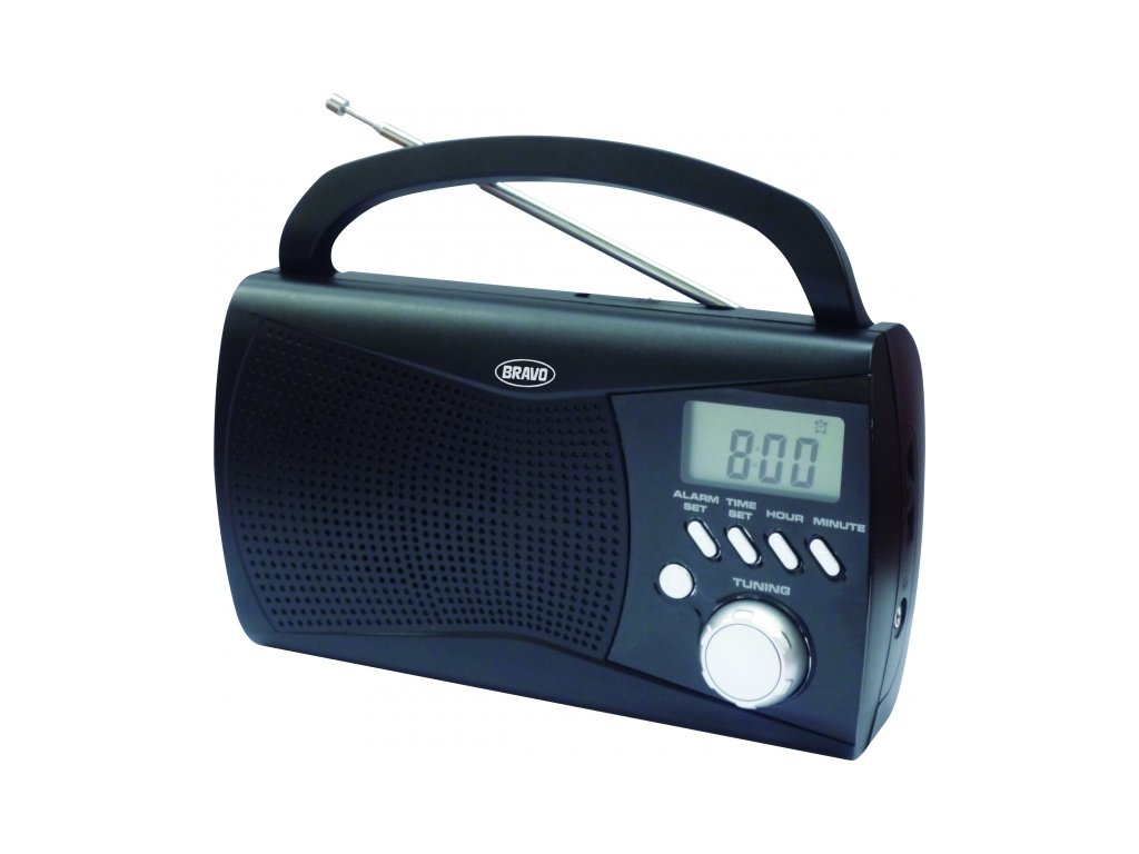 Rádio Bravo B-6010 černé s displejem