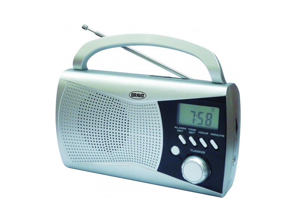 Rádio Bravo B-6010 stříbrné s LCD