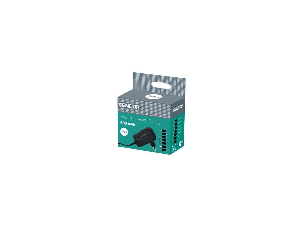 Univerzální napájecí zdroj /trafo/ Sencor SPS 6 600mA