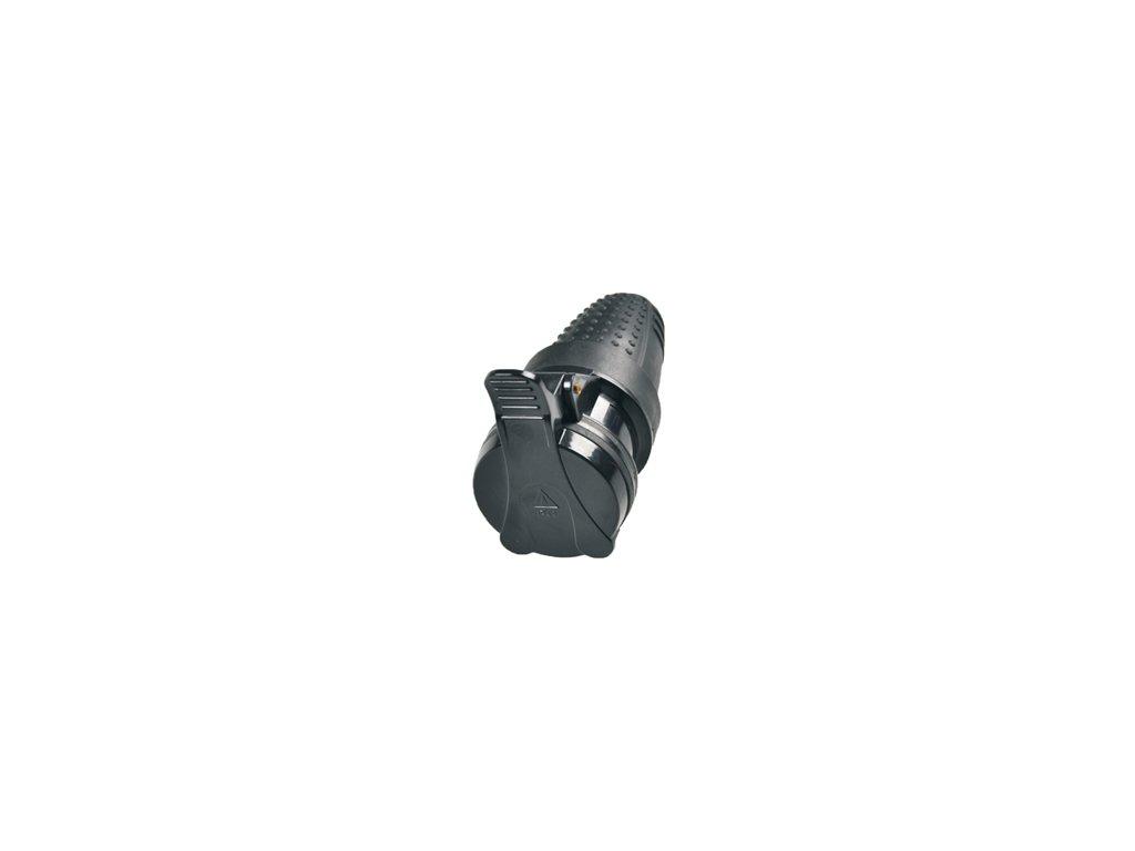 Zásuvka na kabel gumová 230V IP44 do vlhka odolná