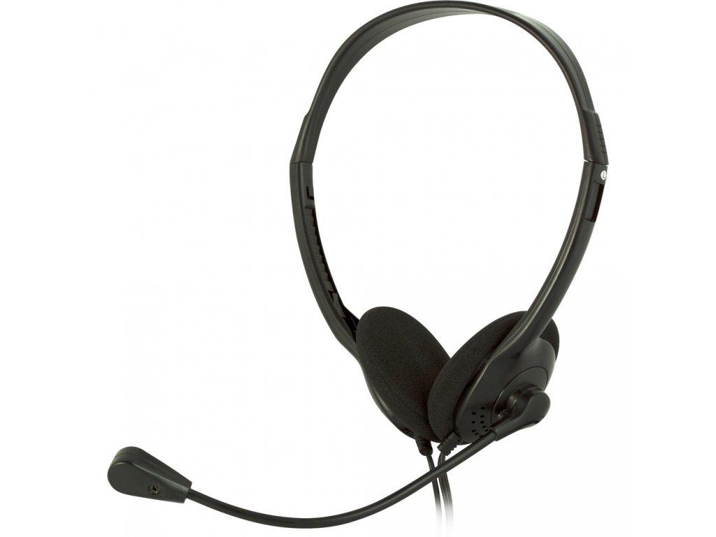 Sluchátka s mikrofonem k PC Sencor SEP 252 uzavřená
