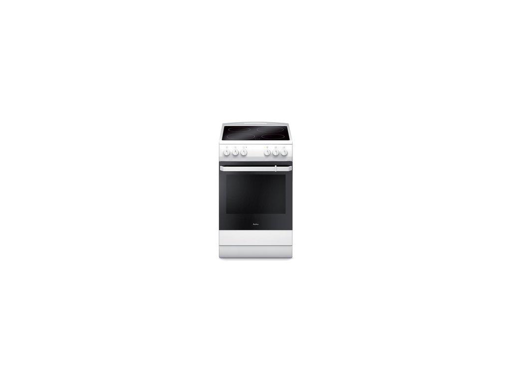 Sklokeramický sporák Amica 510CE1.30P/W/ bílý