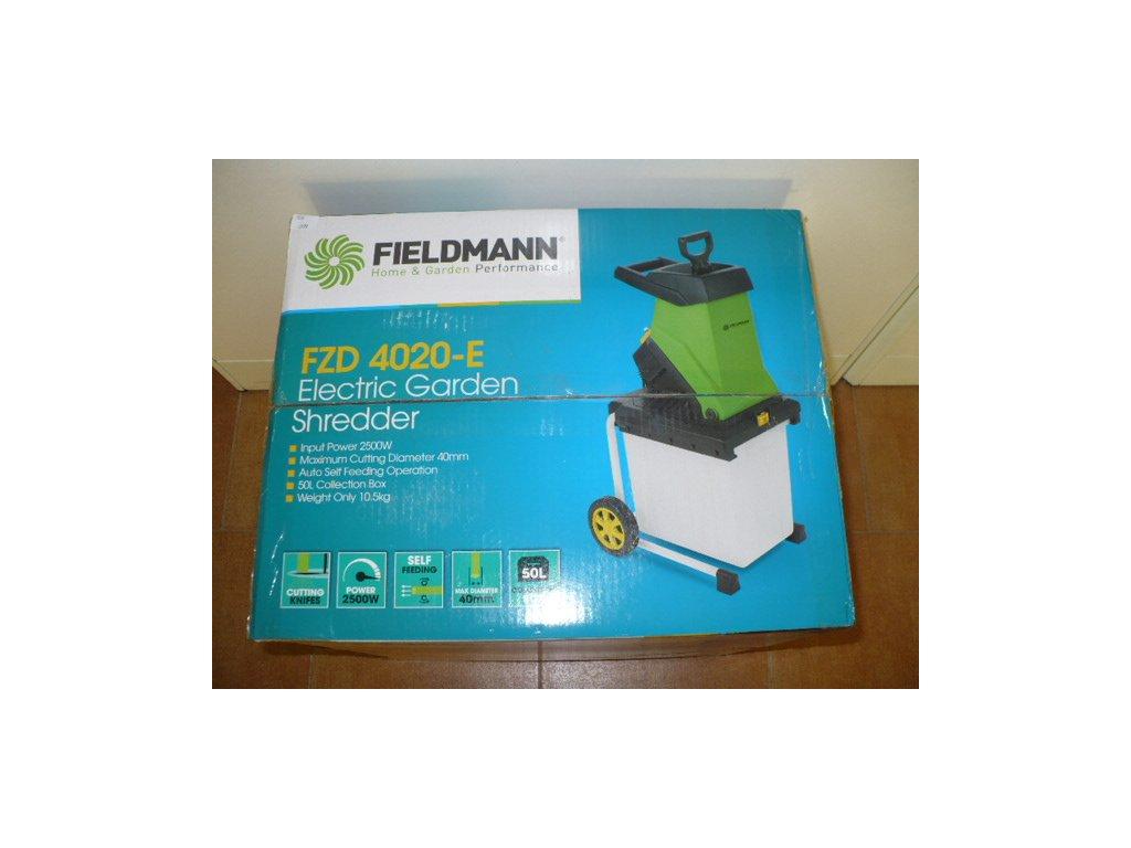 Elektrický zahradní drtič /štěpkovač/ Fieldmann FZD 4020-E 2500W
