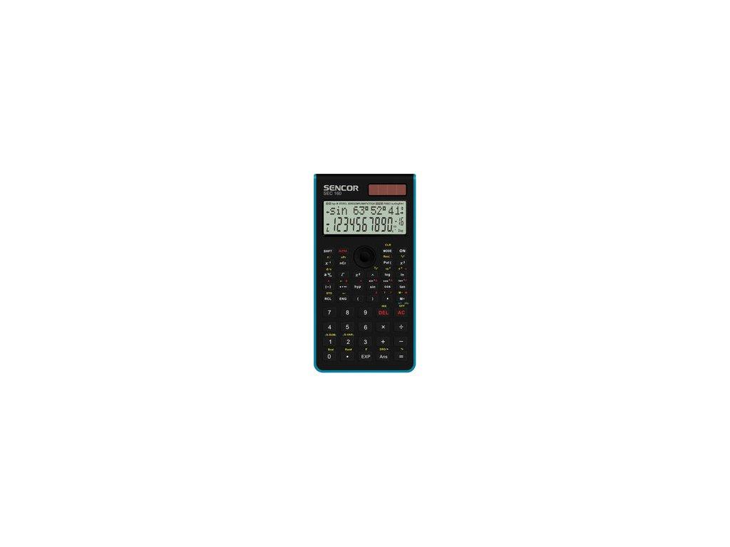 Vědecká kalkulačka Sencor SEC 160 BU dvouřádková pro SŠ a VŠ školy