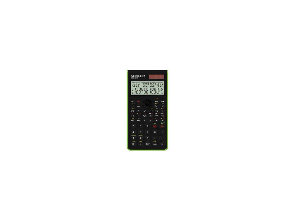 Vědecká kalkulačka Sencor SEC 160 GN dvouřádková pro SŠ a VŠ školy