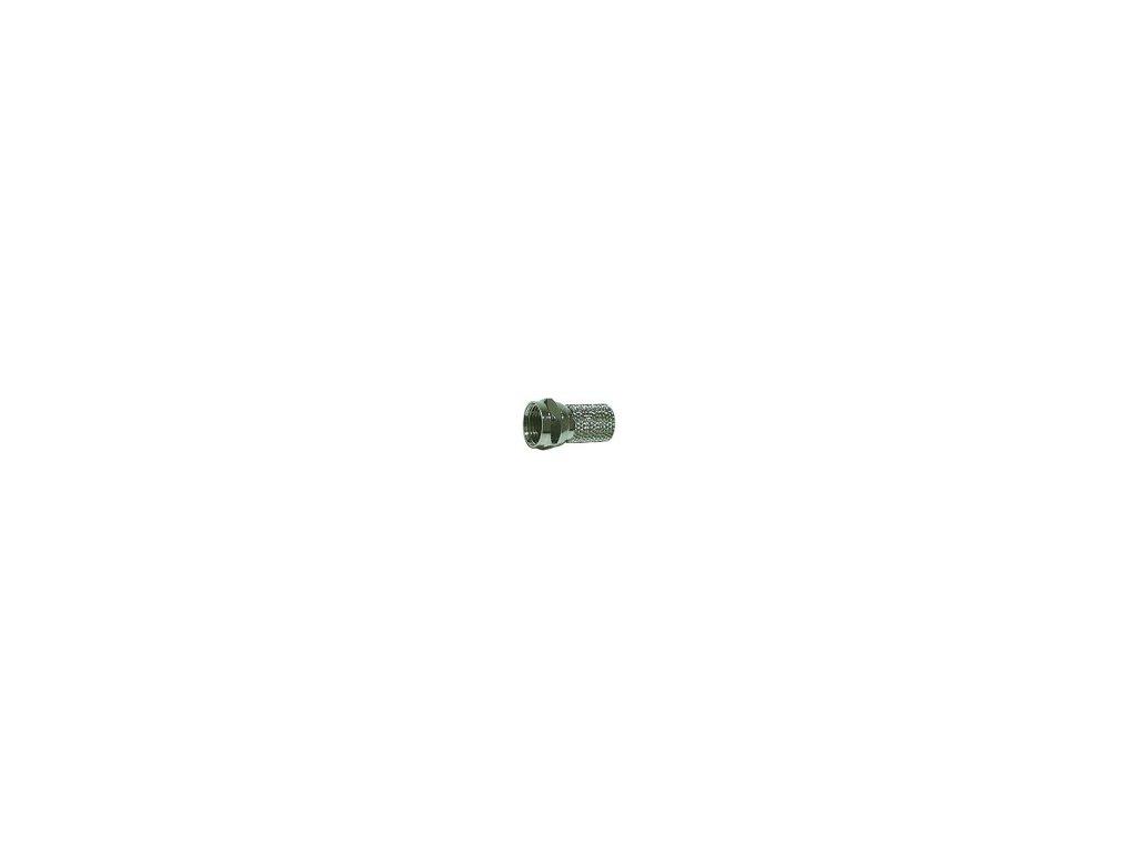Konektor F vidlice pro venkovní televizní koaxiální kabel průměr 6,8 mm