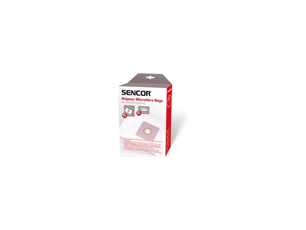 Sáčky do vysavače Sencor SVC 900 DVA v JEDNOM 5ks + mikrofiltr