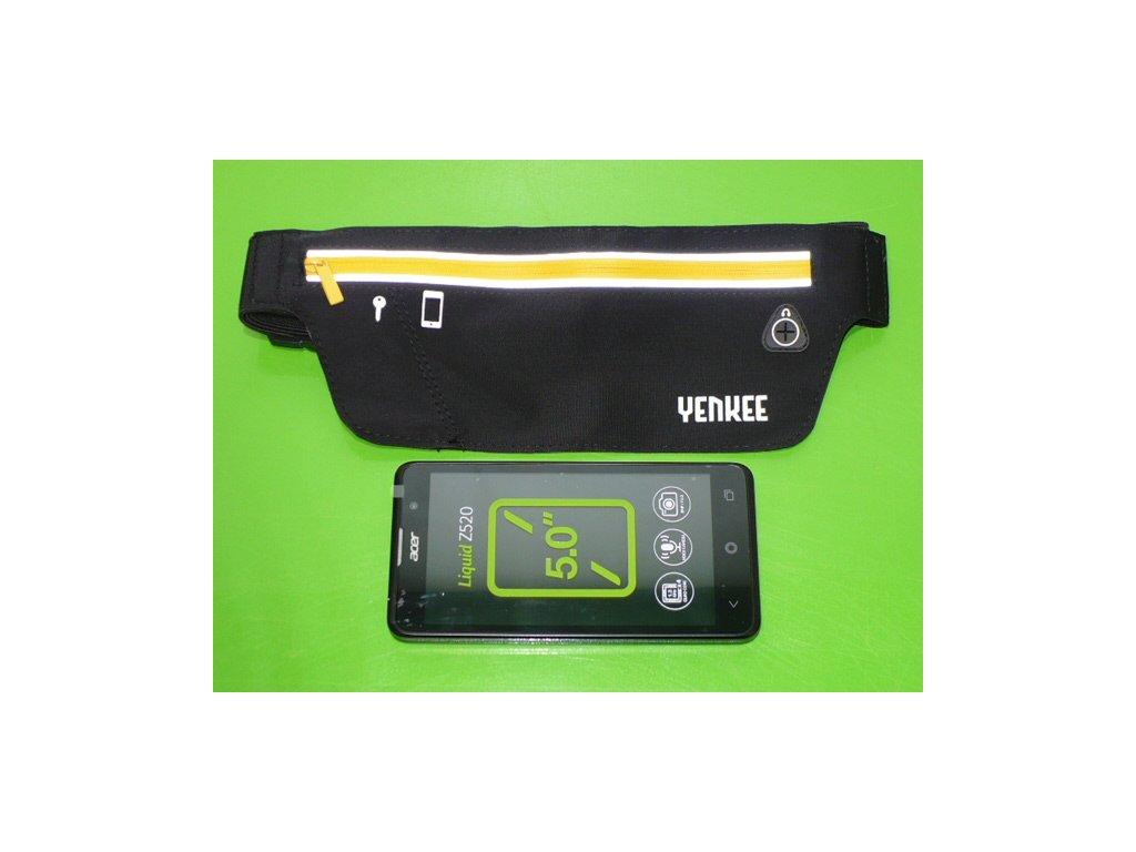 Sportovní pouzdro /ledvinka, kapsa/ na pas na mobil Sport Yenkee YBM W500BK z Lycry