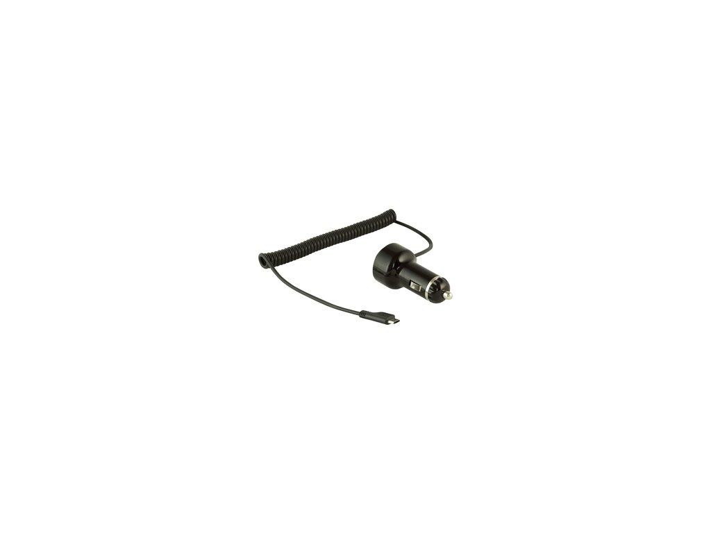 Nabíječka do auta Yenkee YAC 2004 mikroUSB s USB slotem pro telefony a tablety 2,1A
