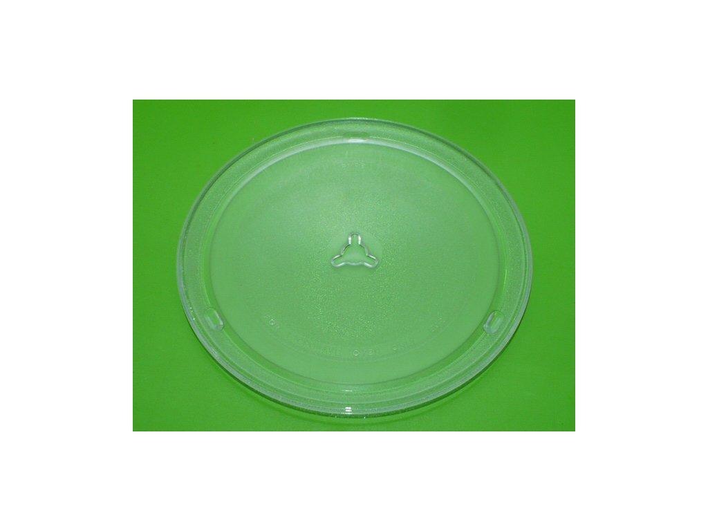 Náhradní talíř do mikrovlnné trouby průměr 260 mm s trojúhelníkovým výliskem