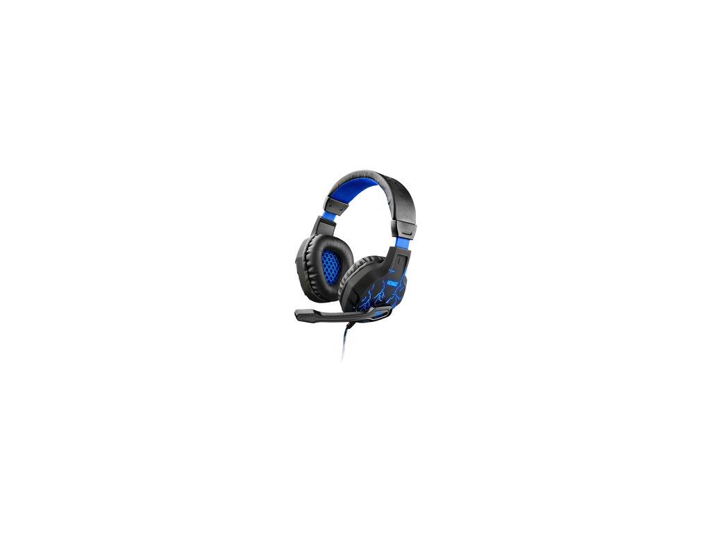 Herní podsvícená drátová sluchátka Yenkee Ambush YHP 3020