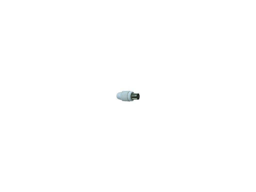 Anténní konektor /zásuvka, samice/ IEC šroubovací rovný pro koaxiální kabel