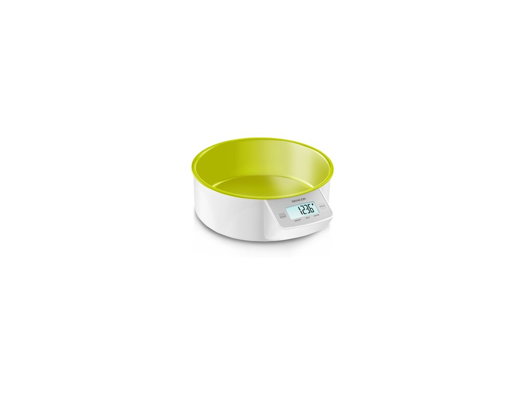 Kuchyňská váha Sencor SKS 4004GR zelená