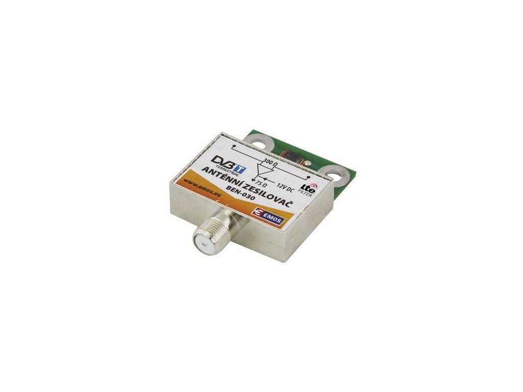 Anténní zesilovač pro širokopásmové síťové antény Emos BEN-30/030 30 dB VHF/UHF