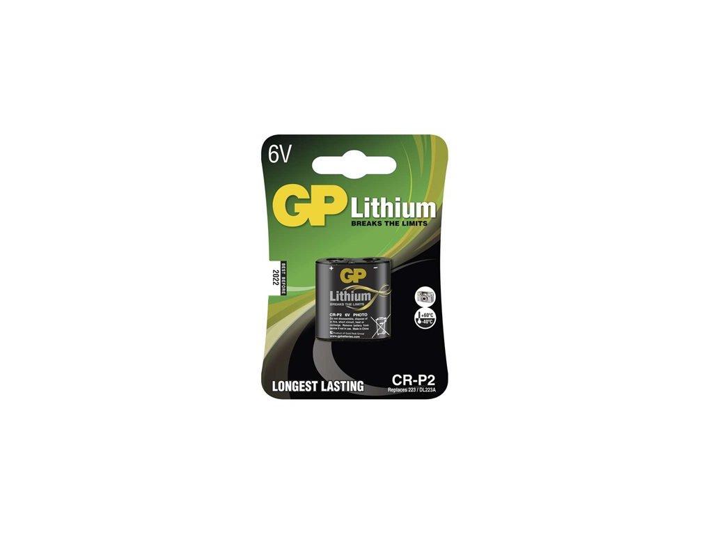 Lithiová baterie GP CR-P2 /EL223AP,DL223A/ 6V