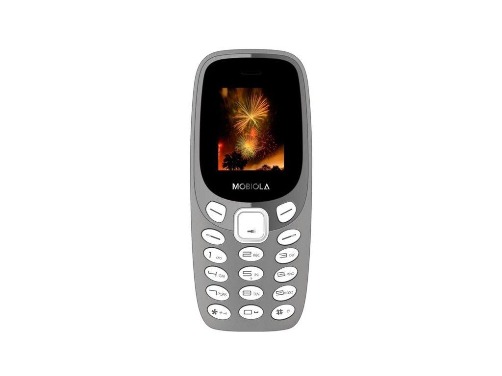 Tlačítkový mobil Mobiola MB3000 šedý Dual Sim
