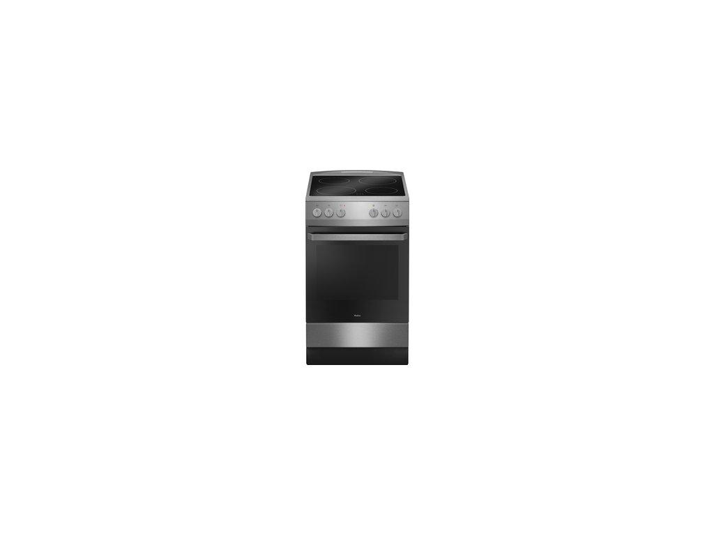 Sklokeramický sporák Amica 510CE1.30P /C/ stříbrný