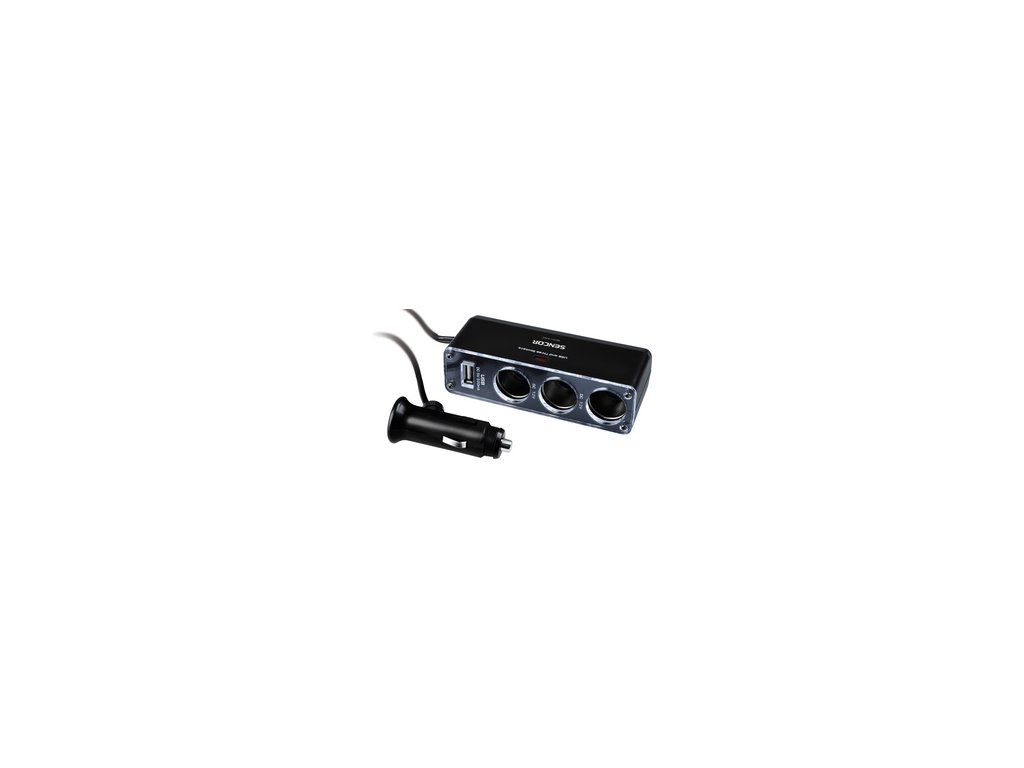 Napaječ /rozbočovač/ 12V v autě, karavanu, kamionu Sencor SCH 440 USB