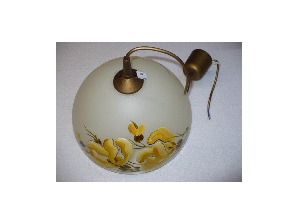 Lustr kuchyň. sklo motiv žlutý 1