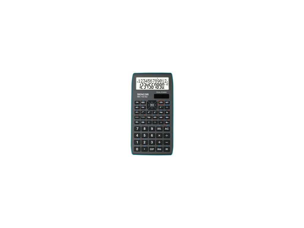 Vědecká kalkulačka Sencor SEC 150 BU dvouřádková pro SŠ a VŠ školy