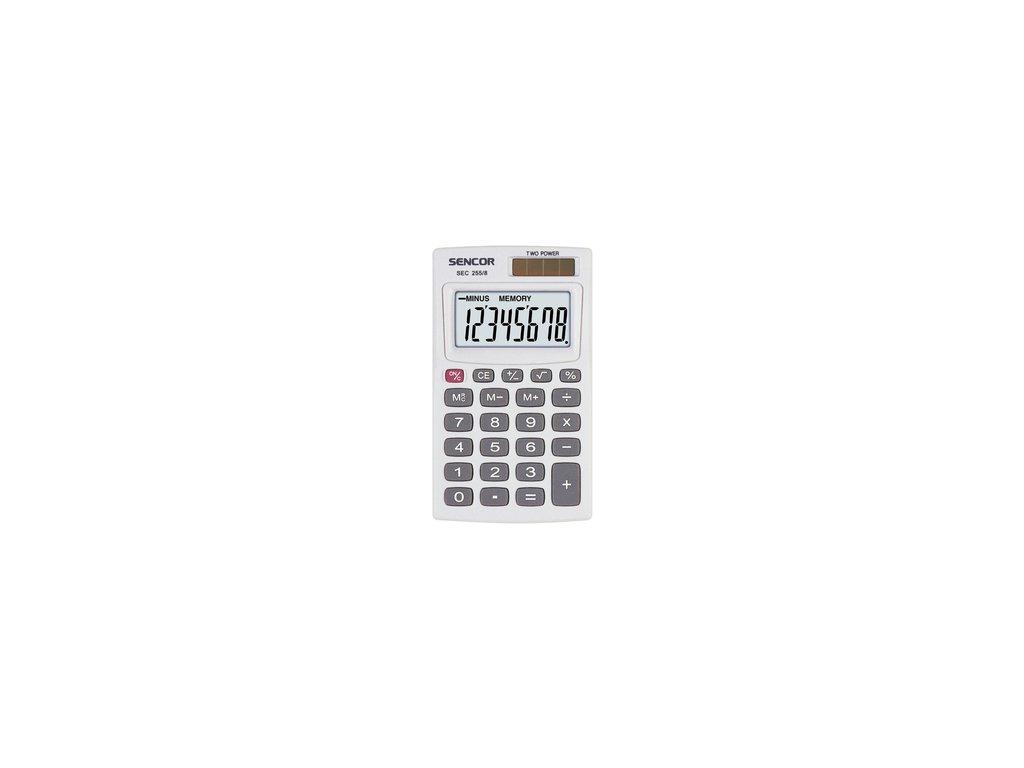 Kapesní kalkulačka Sencor SEC 255/8 DUAL