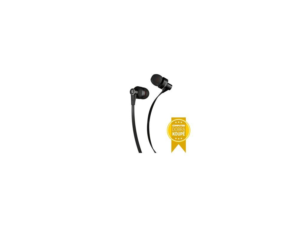 Sluchátka s mikrofonem Sencor SEP 300 MIC Black MET