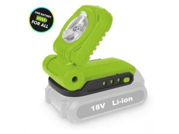 """Aku LED svítilna Fieldmann FDUL 50901 """"jedna baterie pro vše"""""""
