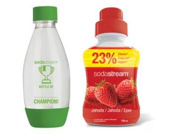 Sada Sodastream dětská lahev + příchuť jahoda