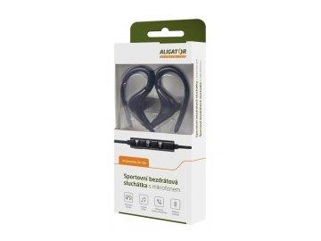 Bezdrátová bluetooth sluchátka /pecky/ Aligator FR301X černé s mikrofonem