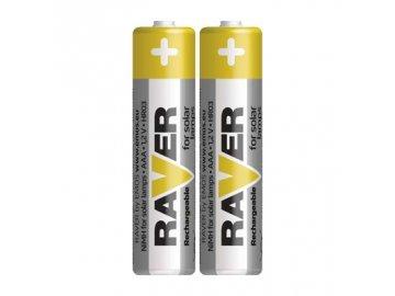 Nabíjecí baterie /akumulátor/ mikrotužka AAA LR03 Ni-MH Raver pro solární lampy