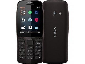 Tlačítkový mobil Nokia 210 Dual Sim černý