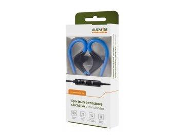 Bezdrátová bluetooth sluchátka /pecky/ Aligator FR301X černo/modrá s mikrofonem