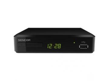 Set Top Box /DVB-T/T2 přijímač/ Sencor SDB 520T H.265 HEVC REC USB
