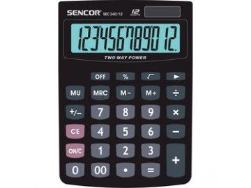 Stolní kalkulačka Sencor SEC 340/12 DUAL pro prodejny, kanceláře
