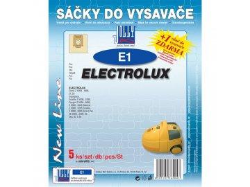 Sáčky do vysavače Jolly E1 Electrolux Clario, Excellio, Oxygen, Smartvac, Silence...
