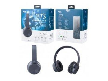 Bezdrátová bluetooth sluchátka PLUS CT715 s mikrofonem, FM rádiem a čtečkou pro microSD kartu