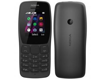 Tlačítkový mobil Nokia 110 Dual Sim černý
