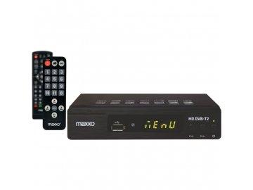 Set Top Box /DVB-T/T2 přijímač/ Maxxo STB T2 SENIOR H.265 HEVC REC USB