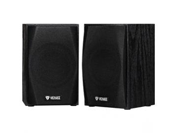 Dřevěné stereo reproduktory Yenkee YSP 2010BK USB 2.0