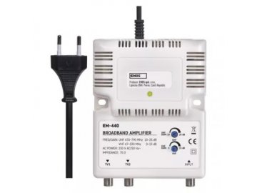 Anténní /domovní/ zesilovač pro širokopásmové a směrové antény Emos EM-440  DOPRAVA ZDARMA