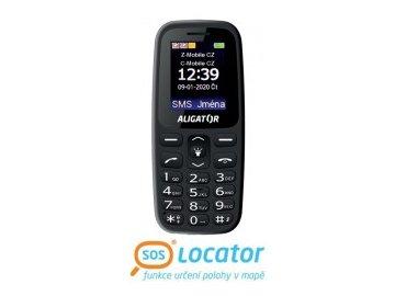 Mobilní telefon Aligator A220 Senior černý