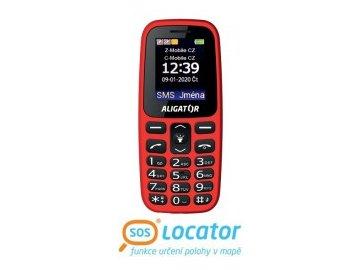 Mobilní telefon Aligator A220 Senior červený