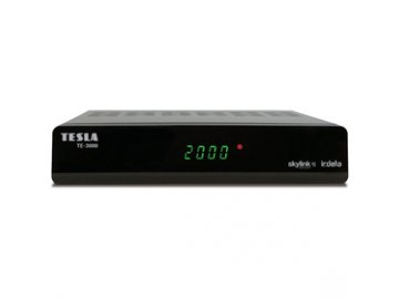 Satelitní přijímač Tesla TE 3000 DVB-S2 IRDETO USB PVR Skylink  DOPRAVA ZDARMA