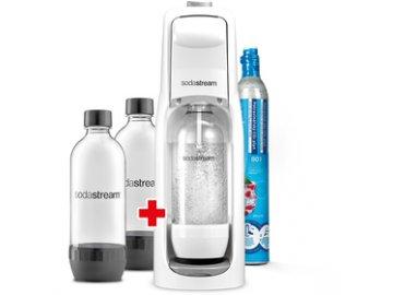 Sada Sodastream Jet White + Lahve 2x 1 litr Soda  DOPRAVA ZDARMA