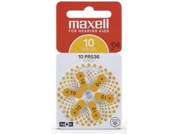 Baterie pro naslouchadla Maxell AZ10/PR536 ZINK AIR 6PK