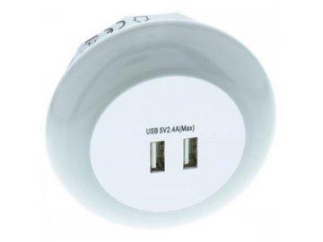 Orientační noční světlo Retlux RNL 102 LED s funkcí USB nabíječky